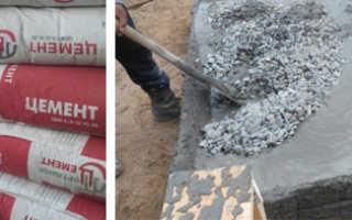 Сколько идет цемента на 1 куб бетона