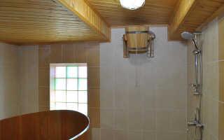 Как сделать помывочную в деревянной бане