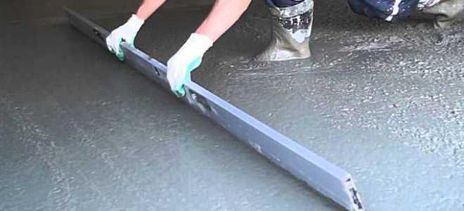 Как рассчитать количество бетона на стяжку