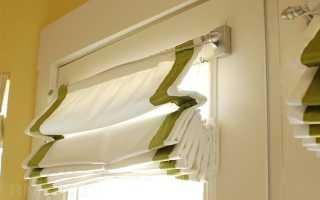 Как закрепить римскую штору на пластиковом окне