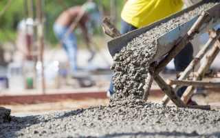Сколько необходимо цемента на 1 м3 бетона