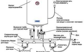 Как подсоединить водонагреватель накопительный