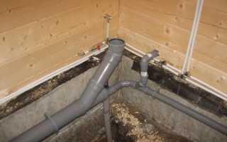 Как правильно сделать канализацию в бане