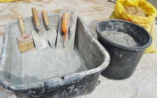 Как приготовить бетон в домашних условиях пропорции