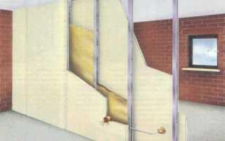 Как поставить стенку из гипсокартона