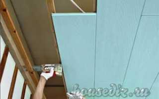 Как положить ламинат на потолок
