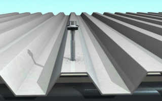 Как крепить профлист на крыше