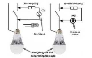 Почему мигает энергосберегающая лампа в выключенном состоянии