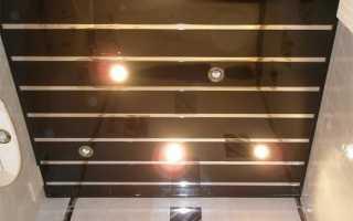 Как снять реечный потолок в ванной
