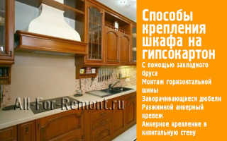 Выдержит ли гипсокартон кухонные шкафы
