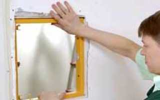 Как установить ревизионный люк в гипсокартоне