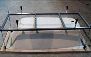 Как установить акриловую ванну на кирпичи