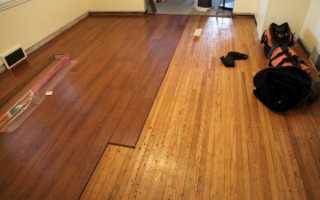 Как сделать ламинат на деревянный пол