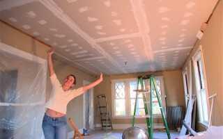 Как прикрепить гипсокартон к потолку без профилей