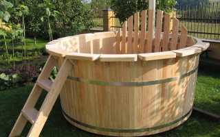 Размер купели для бани