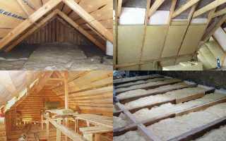 Как утеплить крышу бани своими руками