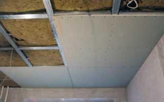 Сколько слоев гипсокартона нужно на потолок