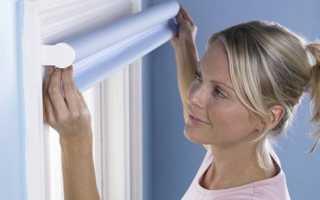 Как крепятся рулонные шторы на пластиковые окна