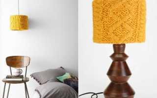 Как обновить абажур настольной лампы своими руками