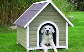 Как сделать собачью будку из досок