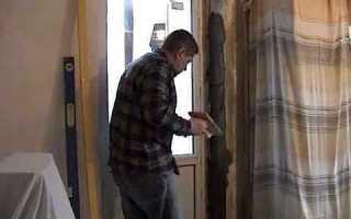 Как выровнять дверной проем штукатуркой