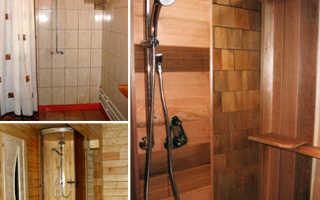 Как сделать душ в бане