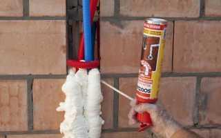Можно ли использовать монтажную пену в бане