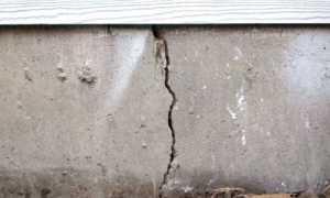 Лопнул фундамент и стена дома что делать