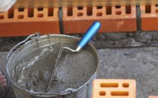 Как правильно сделать раствор для кладки кирпича