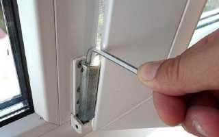 Просело пластиковое окно как отрегулировать