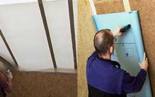Какой стороной крепить пароизоляцию к потолку