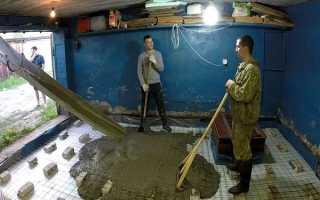 Как правильно залить пол в гараже бетоном