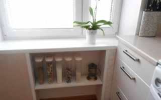 Как сделать шкаф под окном на кухне