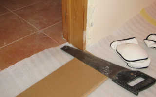 Как стелить ламинат в дверном проеме