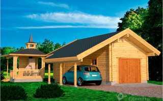 Как построить гараж из досок своими руками
