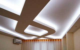 Как собрать потолок из гипсокартона своими руками