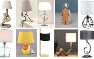 Как крепить настольную лампу к столу