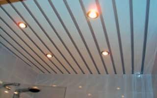 Как выбрать реечный потолок для ванной