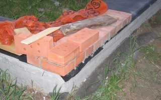 Как выложить ноль на фундаменте из кирпича