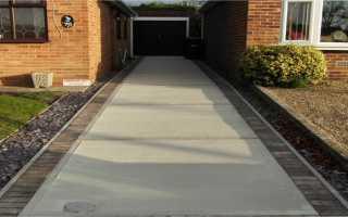 Как сделать дорожку из бетона своими руками