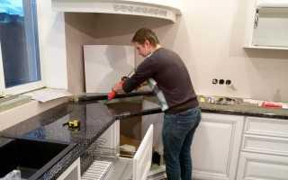 Как крепить столешницу в кухонном гарнитуре