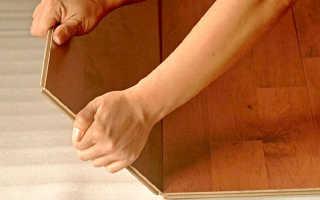 Как монтировать ламинат на пол