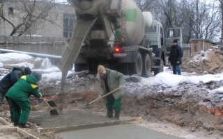 При какой прочности бетона можно нагружать конструкцию