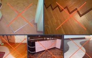 Как заделать стык между плиткой и ламинатом